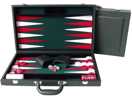 BackGammon Leather 15 Inch Green