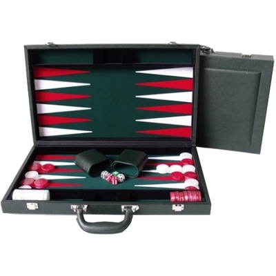 Backgammon Leather 18 Inch Green