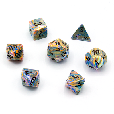 Dice set 4 20 Festive Vibrant Brown