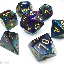 Dice set 4 20 Lustrous Shadow Gold