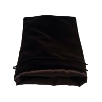 MDG Large Velvet Dice Bag Black