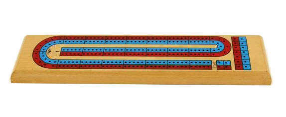 Cribbage Board 2 Player coloured