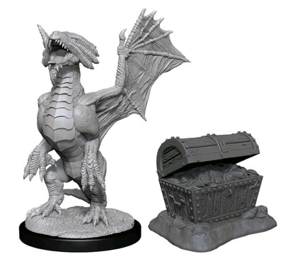 D&D Bronze Dragon Wyrmling & Pile of Sea Found Treasure