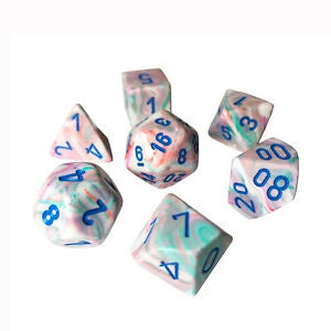 Dice set 4 20 Festive Pop Art Blue