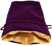 MDG Large Velvet Dice Bag Purple