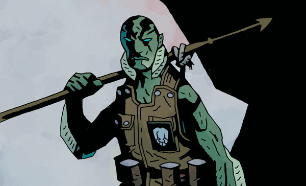 Exclusive Preview - Mike Mignola Art for Abe Sapien Figure