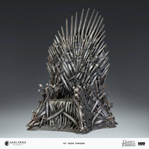 "Game of Thrones Iron Throne 18"" Replica Statue Dark Horse Direct"