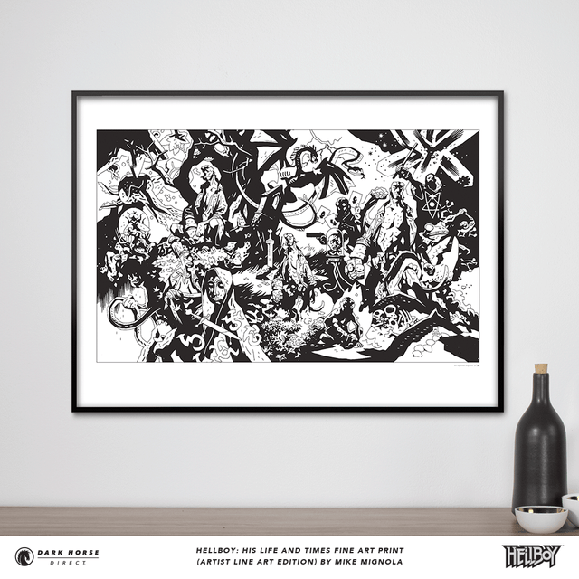 Hellboy: His Life and Times Fine Art Print (Artist Line Art Edition)