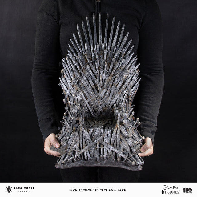 "Game of Thrones 18"" Iron Throne Replica Statue Dark Horse Direct Main Image"