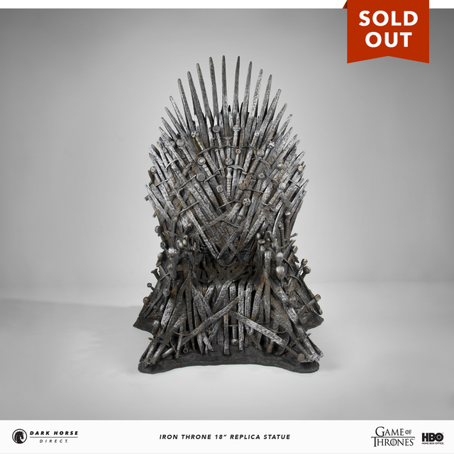 "Game of Thrones: Iron Throne 18"" Replica Statue"