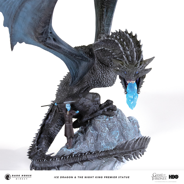 Game of Thrones: Ice Dragon & The Night King Premier Statue