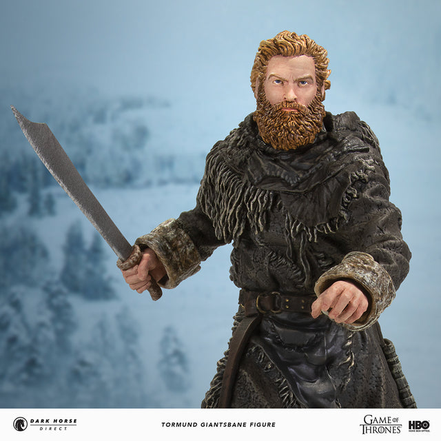 Game of Thrones Tormund Giantsbane Figure Dark Horse Direct Snow Background