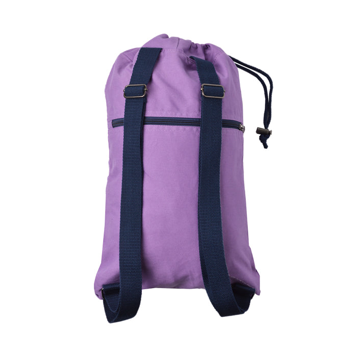 Soft Cotton Canvas Drawstring Backpack