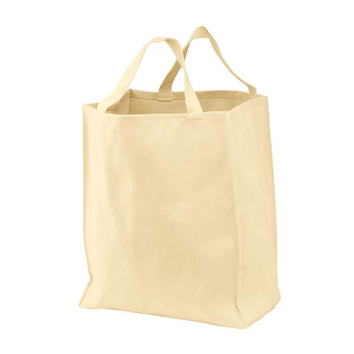 Cotton Twill Grocery Tote Bag