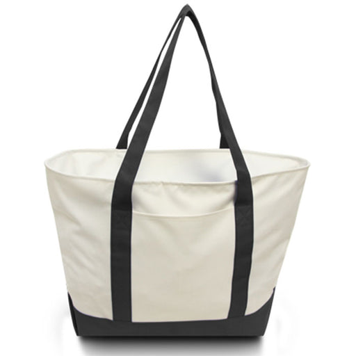 Large Polyester Zippered Boat Tote Bag