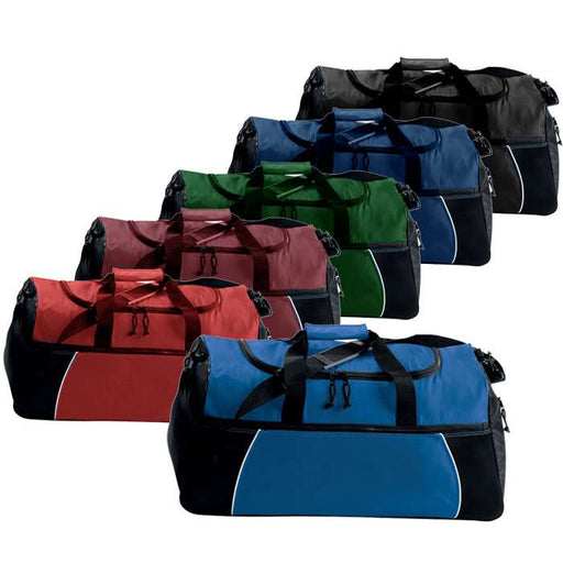 Tri-Color Athletic Sport Duffle Bag - Clearance