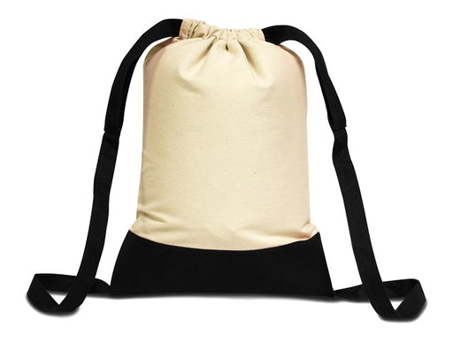 Economical Cotton Canvas Drawstring Backpack