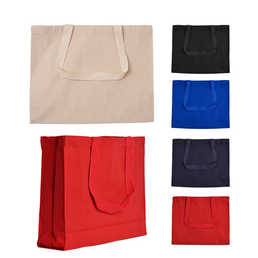 Horizontal Gusset Cotton Canvas Tote bag