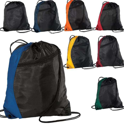 Colorblock Cinch Pack Drawstring Bag Backpack