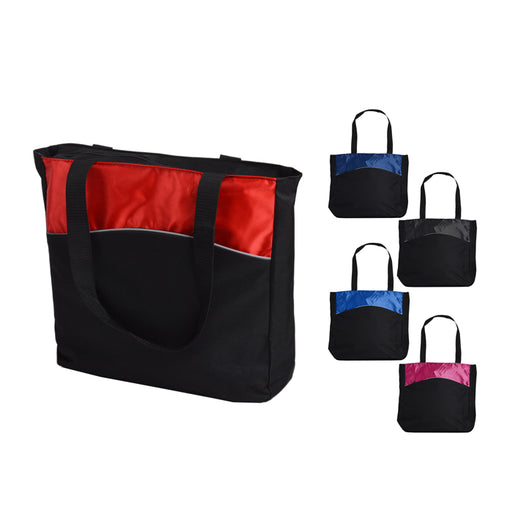 Women's Two Tone Colorblock Tote Bag
