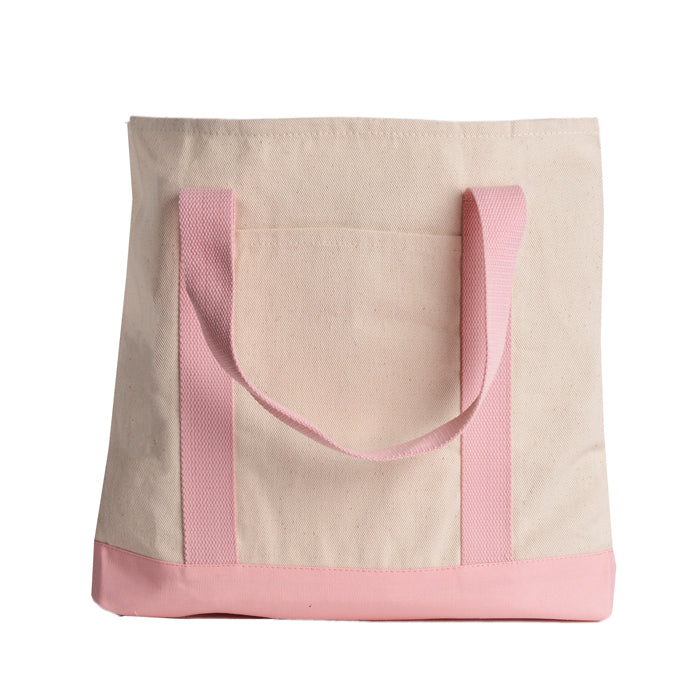 Two-Tone Shopping Tote Bag Handbag for Women