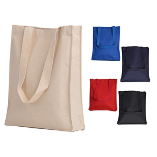 Heavy Canvas Book Bag Tote bag w/Gusset