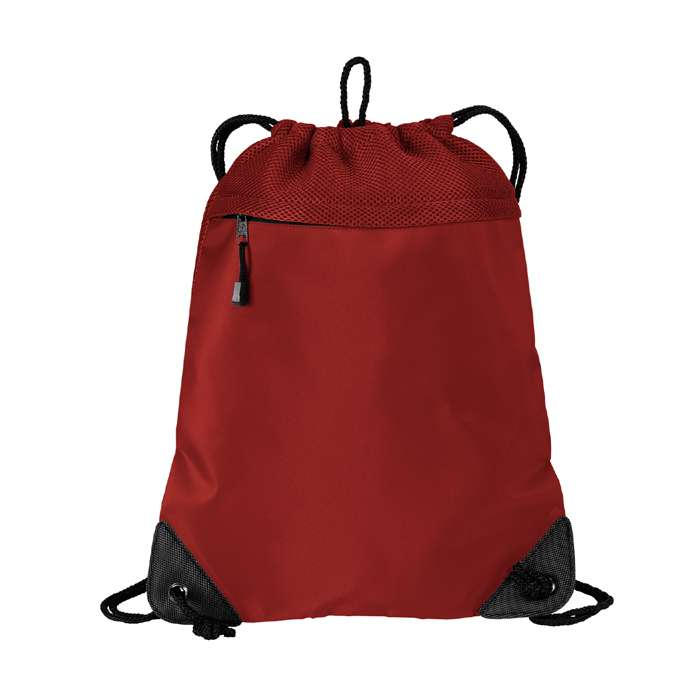 Microfiber Cinch Pack with Mesh Trim Drawstring Bag
