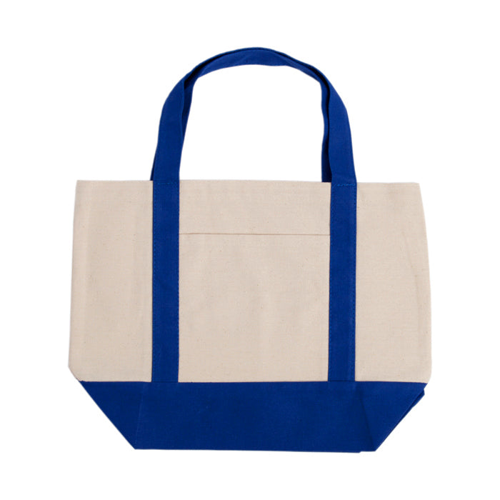 Contrast Handle Canvas Tote Bag