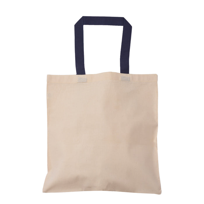 Contrasting Handles Cotton Tote