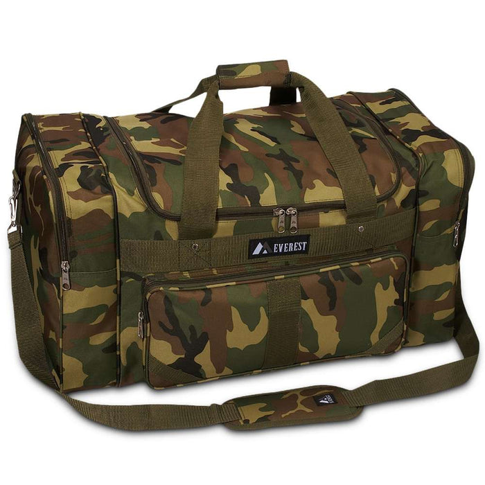 Camouflage Print Duffle Bag