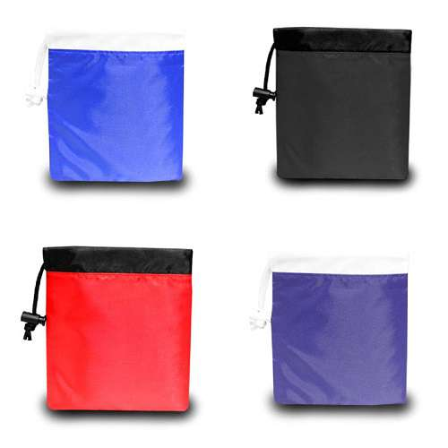 Contrasting Color Cinch Pouch
