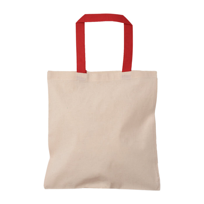 Cotton Tote Bag with Colorful Handle