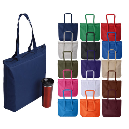 Zippered Shopping Tote Handbag