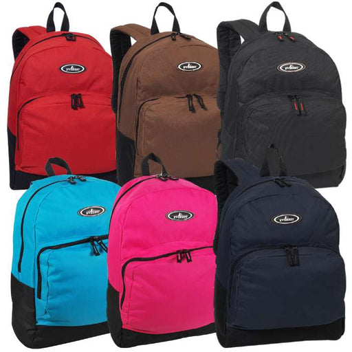 Two-Tone Backpack with Front Organizer