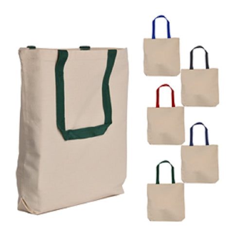Exclusive Canvas Tote bag W/Contrast Color Handles