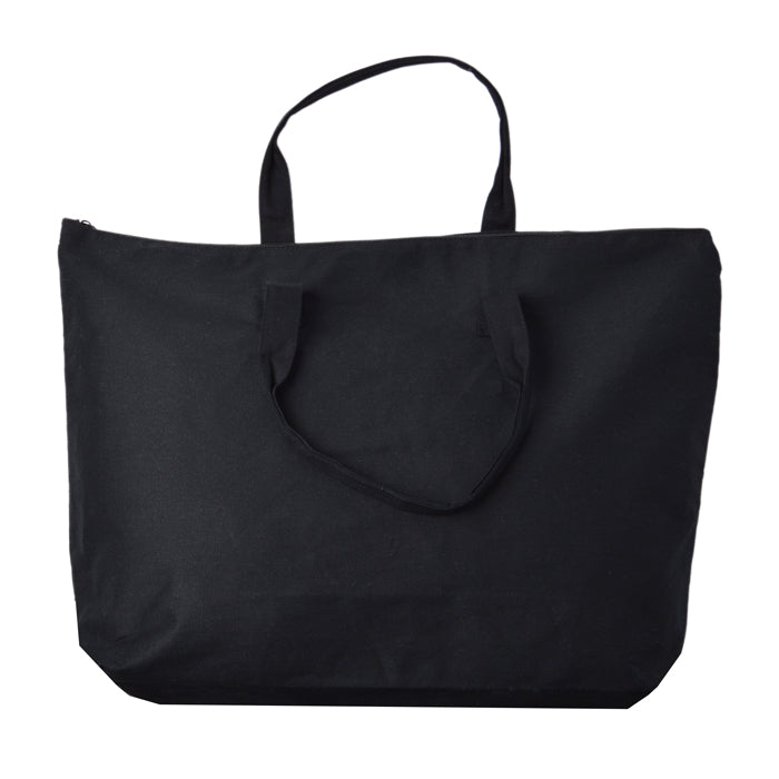 Large Zippered Closure Canvas Tote bag