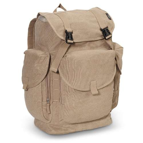 Everest Large Cotton Canvas Rucksack Bag