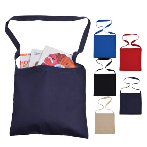 Economical Canvas Messenger Tote Bag Small