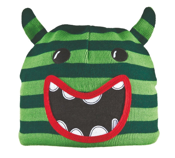Bula Kids Animal Beanie Monster grün