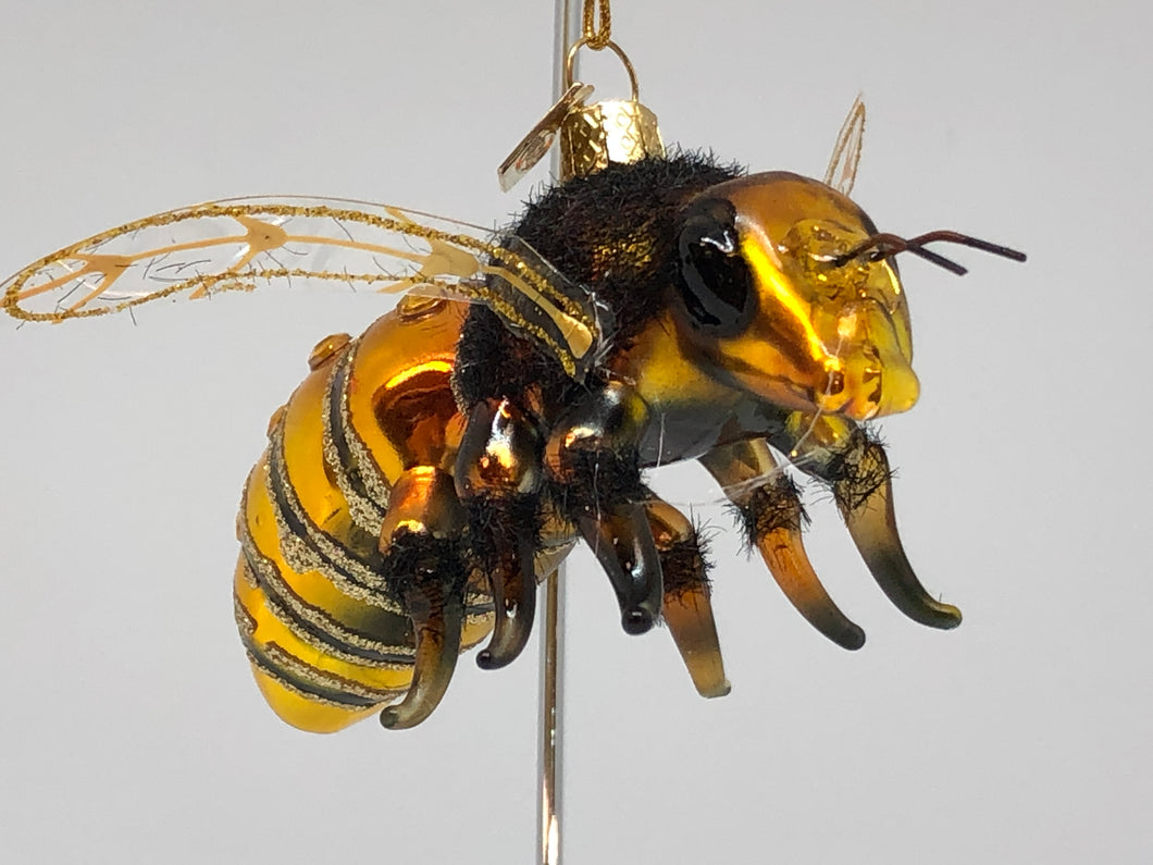Glass Bee Ornament