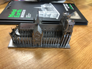 Notre Dame de Paris metal model/puzzle