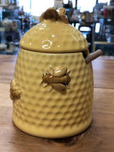 Yellow Honeypot with bees