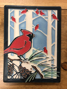MY Winter Cardinals Tile