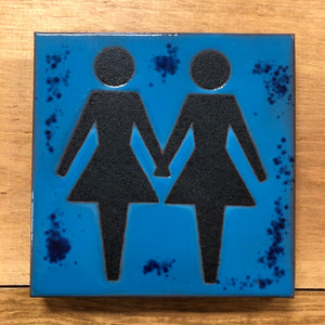 Girls Together Tile/Trivet