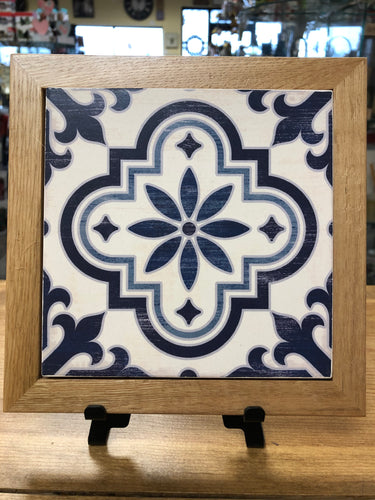 Wood Framed Tile Trivet
