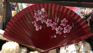 Fan - Floral, one sided, plain back