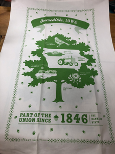 State Kitchen Towel:  South Dakota, Iowa, or Minnesota
