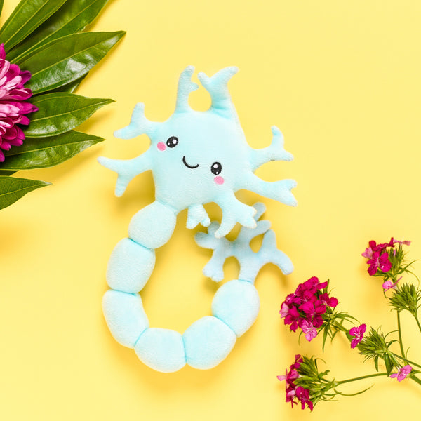 Neuron Plush Organ Toys - Neuron my mind! -Nerdbugs Neuron (Brain Cell) Plushie Organ