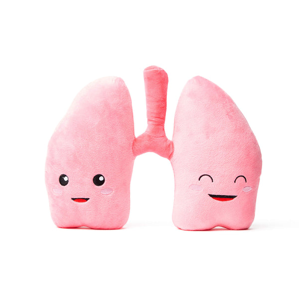 Lung Plush Organ Toys - We Be-lung together! - Nerdbugs Lung Plushie Organ - Nerdbugs Plush Toy Organs
