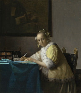 Johannes Vermeer - A Lady Writing